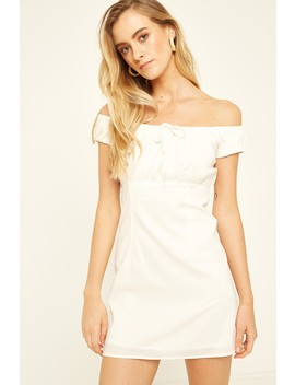 Perfect Stranger Off Shoulder Maid Dress White by Universal Store