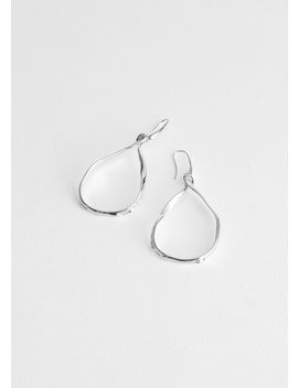 Twist Drop Hammered Earrings by & Other Stories