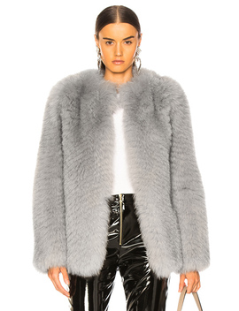 Short Fox Fur Jacket by Zeynep Arcay