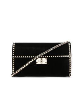 Velvet Rockstud No Limit Shoulder Bag by Valentino