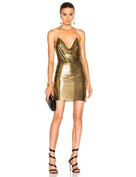 Metallic Halter Dress by Balmain