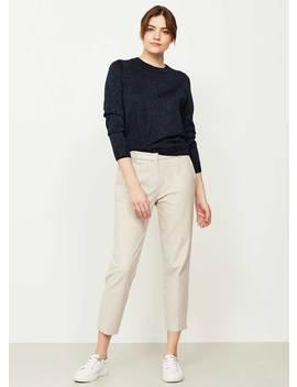 Chalk Stretch Trouser by Mint Velvet