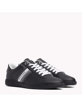 Colour Blocked Leather Trainers by Tommy Hilfiger