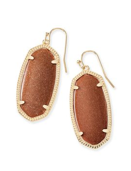 Elle Gold Drop Earrings In Goldstone by Kendra Scott
