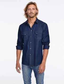 Denim Button Down Shirt by Castro