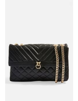 Panther Quilted Shoulder Bag by Topshop