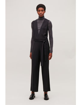 Deep V Neck Tailored Jumpsuit by Cos
