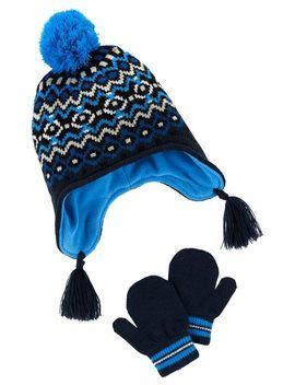 Fair Isle Hat & Glove Set by Carter's