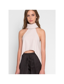 Choker High Low Blouse In Blush by Wet Seal