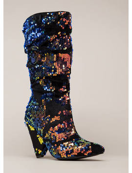Seeing Sequins Slouchy Velvet Boots by Go Jane