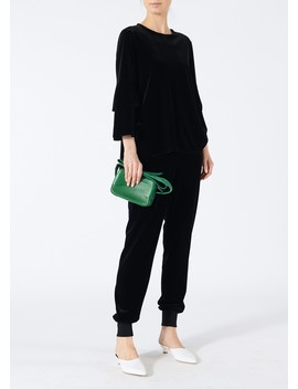 Stretch Velvet Bell Sleeve Top by Tibi