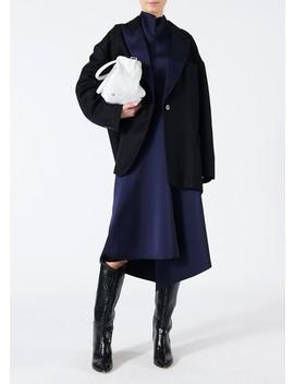 Bonded Satin High Waisted Draped Skirt by Tibi
