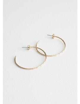 Crystal Stone Hoop Earrings by & Other Stories