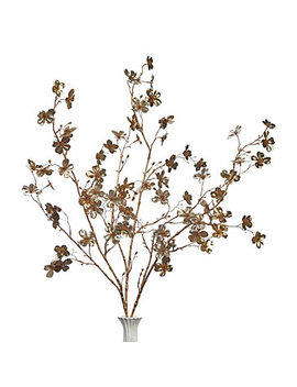 Metallic Dogwood Spray   Set Of 3 by Z Gallerie