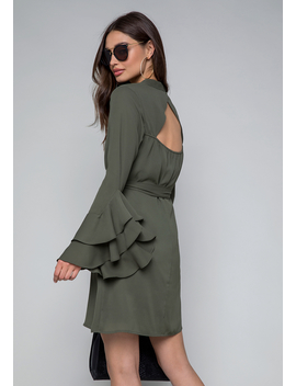 Natalie Long Sleeve Dress by Bebe