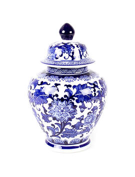 "14"" Lavieille Ginger Jar, Blue/White by One Kings Lane"
