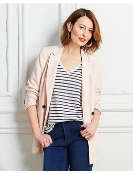 Double Breasted Crepe Blazer by Simply Be
