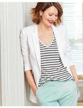 Linen Blazer by Simply Be