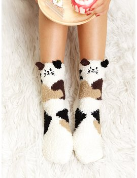 Cat Pattern Socks by Romwe