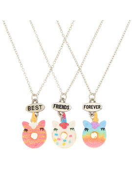 Best Friends Unicorn Donut Necklaces   3 Pack by Claire's