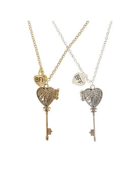 Best Friends Key Locket Necklaces by Claire's