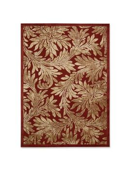 Nourison Graphic Illusions 5 Foot 3 Inch X 7 Foot 5 Inch Area Rug In Red by Bed Bath And Beyond