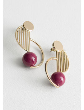 Rounded Sculptural Earrings by & Other Stories