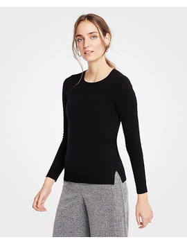 Petite Cashmere Crew Neck Sweater by Ann Taylor