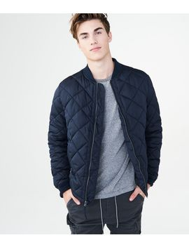 Diamond Quilted Bomber Jacket by Aeropostale