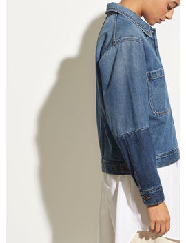Cropped Denim Jacket by Vince