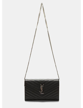 Women's Ysl Monogrammed Wallet Bag In Black by Saint Laurent