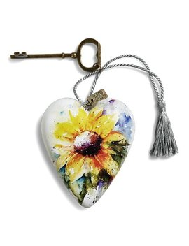 Yellow &Amp; White Watercolor Sunflower Art Heart Décor by Zulily