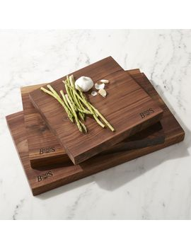 John Boos Rustic Edge Walnut Cutting Boards by Crate&Barrel