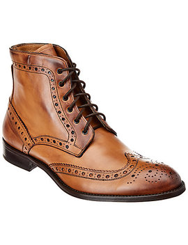 Gordon Rush Wingtip Lace Up Leather Boot by Gordon Rush Italy