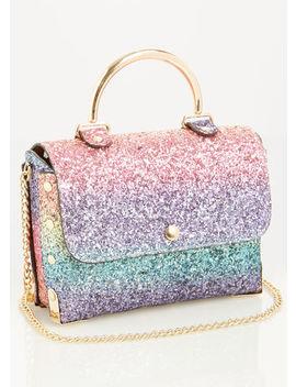 Mini Glitter Shoulder Bag by Ashley Stewart