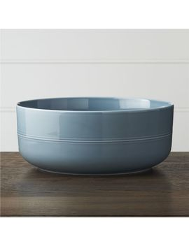 Hue Navy Blue Serving Bowl by Crate&Barrel