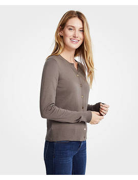 Petite Gilded Button Ann Cardigan by Ann Taylor
