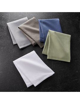 Salsa Solid Neutral Dish Towels, Set Of 5 by Crate&Barrel