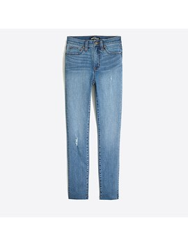 "9"" High Rise Skinny Jean With Cut Off Hem by J.Crew"