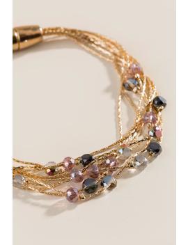 Caroline Beaded Magnetic Bracelet by Francesca's