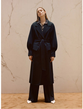 [Unisex] Alana Hand Made Coat Awa171 W Green Navy by Andersson Bell
