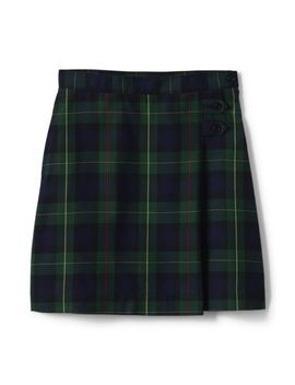 School Uniform Women's Plaid A Line Skirt Below The Knee by Lands' End