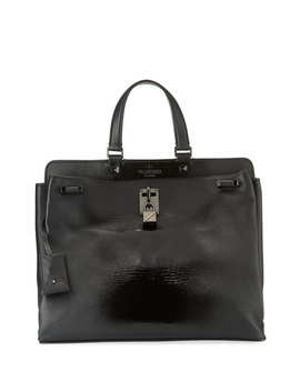 Joylock Medium Patent Top Handle Bag by Valentino Garavani