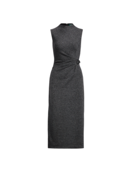 Buckled Mockneck Dress by Ralph Lauren