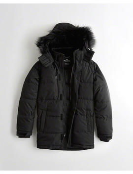 Hooded Puffer Parka by Hollister