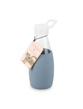 Glass & Silicone Grey Water Bottle by Olivar Bonas