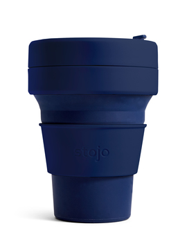 Stojo Navy Collapsible Pocket Cup by Olivar Bonas