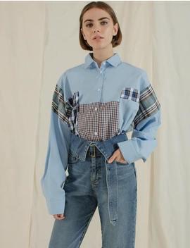 Multi Plaid Blue Shirt by Pixie Market
