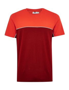 Red 'handle' T Shirt by Topman
