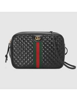 Small Quilted Leather Shoulder Bag by Gucci